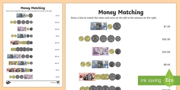Australia Money Pdf Worksheets Primary Resource F 2