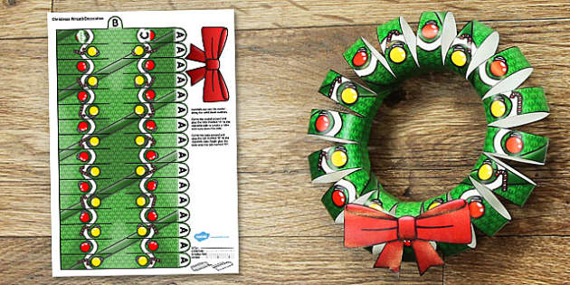 Advent Calendar Ideas Eyfs : D christmas wreath display printable