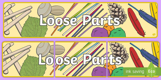 Loose Parts Display Banner Teacher Made