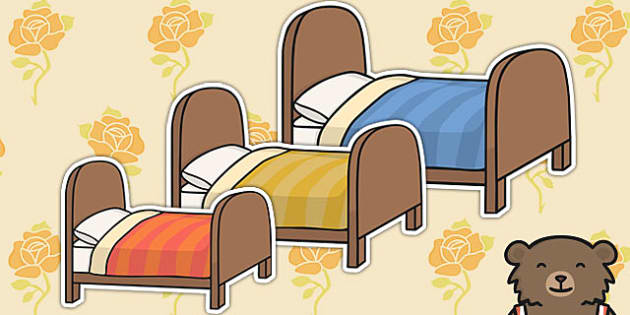 Goldilocks And The Three Bears Bed Cut Outs Cut Outs Bed