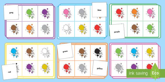 Colour Bingo and Lotto Game Pack - bingo, lotto, colour ...