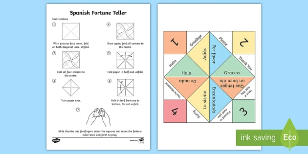 Greetings fortune teller activity spanish spanish ks2 m4hsunfo