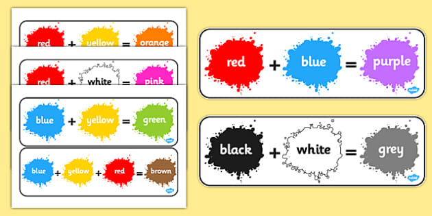 Colour Mixing Display Posters Colouring