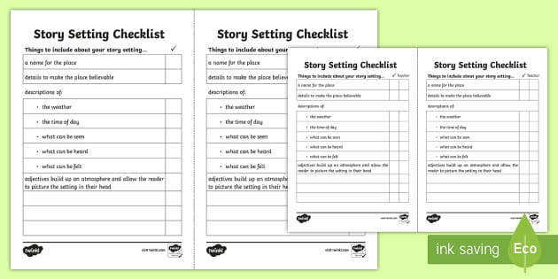 Free Worksheets map of scotland worksheet : Story Setting Checklist - story setting, settings, how to ...