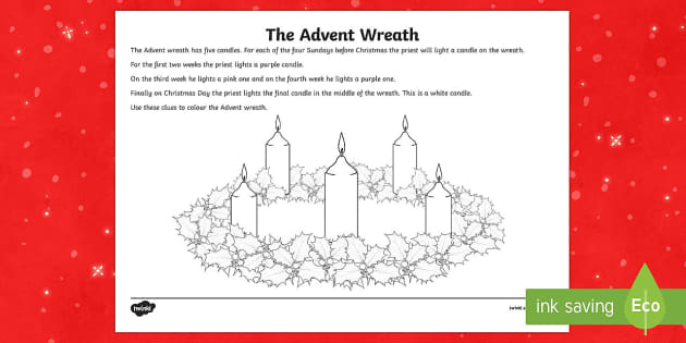 advent wreath worksheet. Black Bedroom Furniture Sets. Home Design Ideas