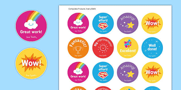 Maths Well Done Stickers