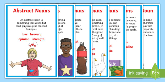 Types Of Nouns Display Poster - Types Of Nouns Display Poster (Large)