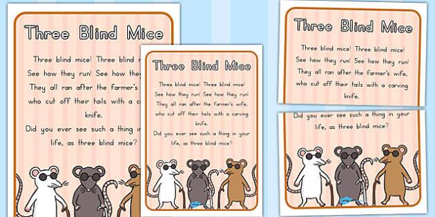 analysis of 3 blind mice