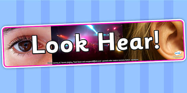 Image result for look hear