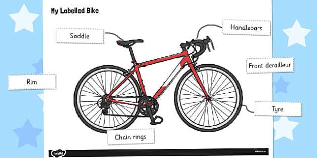 Label a Bike Worksheet / Activity Sheet - label, bike