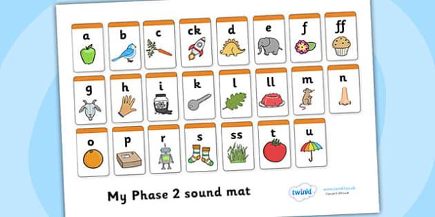 Phase 2 Sound Mat Alphabetical Order Phase 2 Phase Two