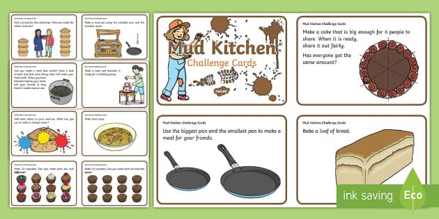 Mud Kitchen Challenge Cards (teacher made)