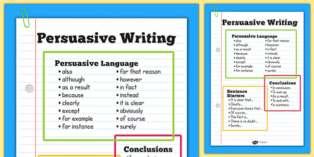 Persuasive Writing: Testing Your Reasons