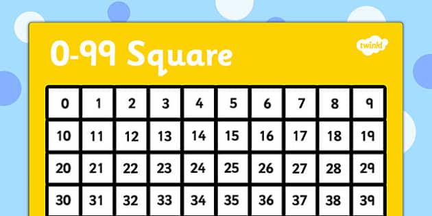 0 99 Number Square Number Square 0 99 Number Square