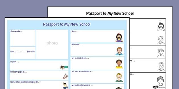Passport to a New School - passport, new school, new, school