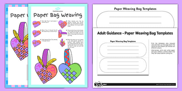 Paper Bag Weaving Instructions Craft Instructions Pack Paper