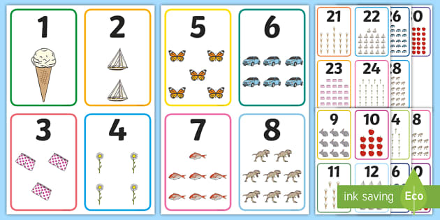 FREE! - Number Picture Cards to 30 | Primary Teaching Resources