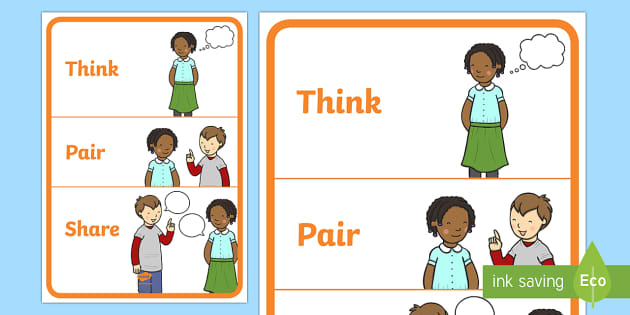think pair share Find and save ideas about think pair share on pinterest   see more ideas about teaching strategies, student engagement and teaching tips.