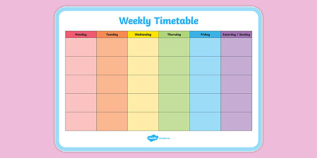 Week Timetable Template from images.twinkl.co.uk