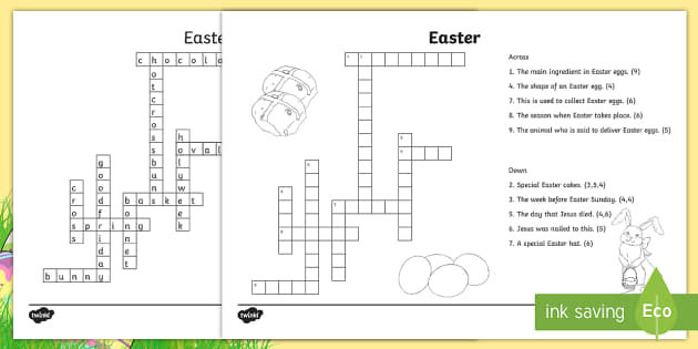 easter crossword roi easter activities crossword puzzle. Black Bedroom Furniture Sets. Home Design Ideas