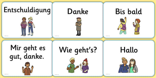 Basic phrases greetings primary resources german greetings a5 flashcards german m4hsunfo Image collections
