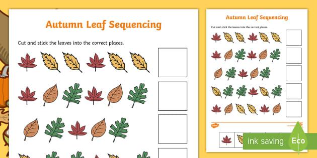 Autumn Leaf Sequencing Worksheet