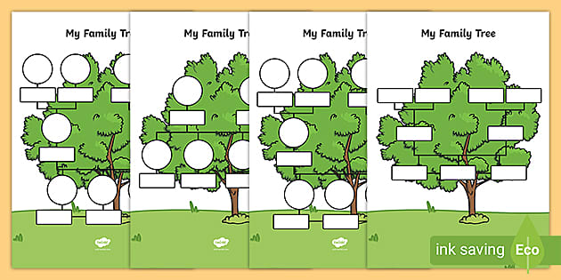 My Family Tree Template For Kids Teacher Made