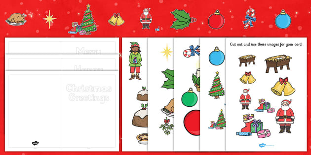 Free How To Make Your Own Cut Out Christmas Cards