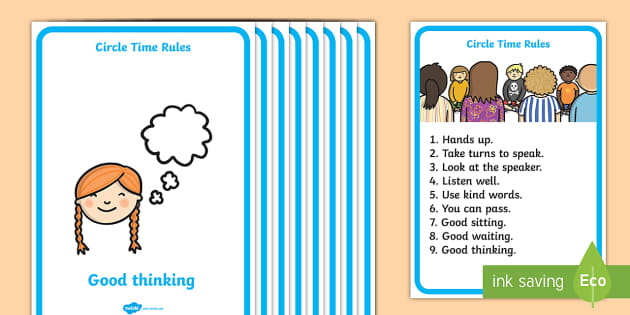 circle time rules display poster