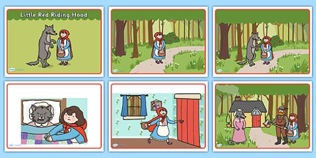 Little Red Riding Hood Story Sequencing Teacher Made