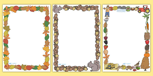 Autumn Page Borders (Full