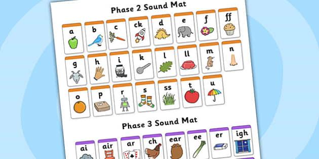 Phase 2 And Phase 3 Sound Mat Alphabetical Order Phase 2