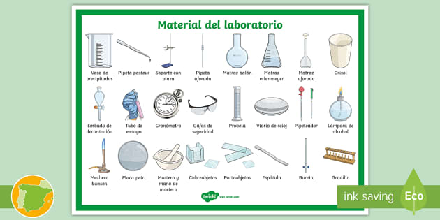 Póster Material De Laboratorio Teacher Made