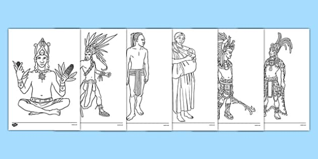 mayan colouring pages mayan colouring sheet colour