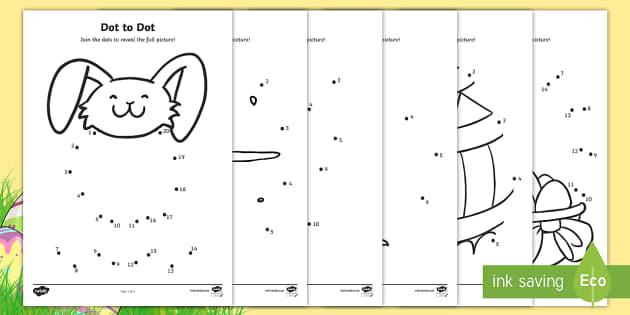Easter Dot To Dot Worksheets