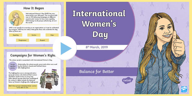 370d74128e2d4 International Women's Day, 2018 PowerPoint - History, Woman, Equality