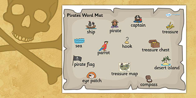 Pirate Word Mat Pirate Word Mat Pirates Pirate Theme Word