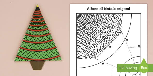 Albero Di Natale Origami.Albero Di Natale Origami Attivita Teacher Made