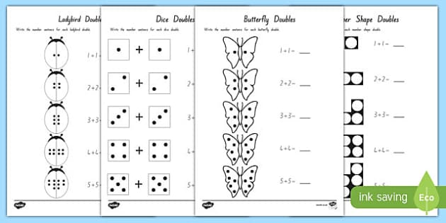 doubles to 10 worksheet activity sheets maths numeracy new. Black Bedroom Furniture Sets. Home Design Ideas