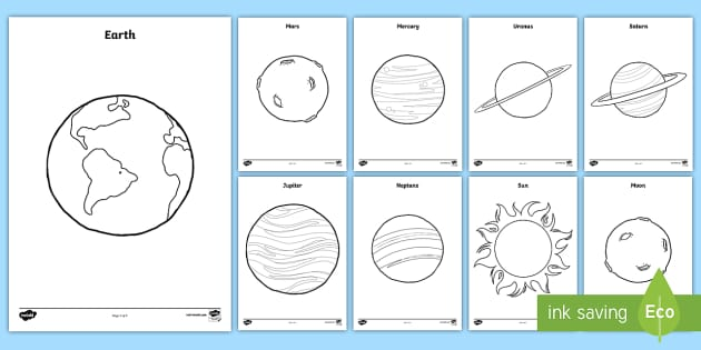 planets coloring pages space outer space planets solar - Planets Coloring Pages