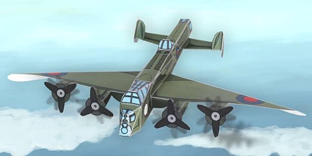 Lancaster Bomber Paper Model Teacher Made