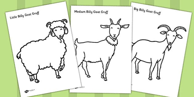 The Three Billy Goats Gruff Colouring