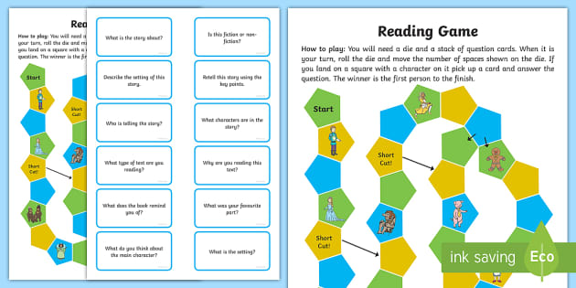 Reading Prehension Board Game Read Books Board Game