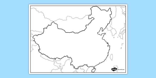Blank map of china blank map china blank map geography gumiabroncs Image collections