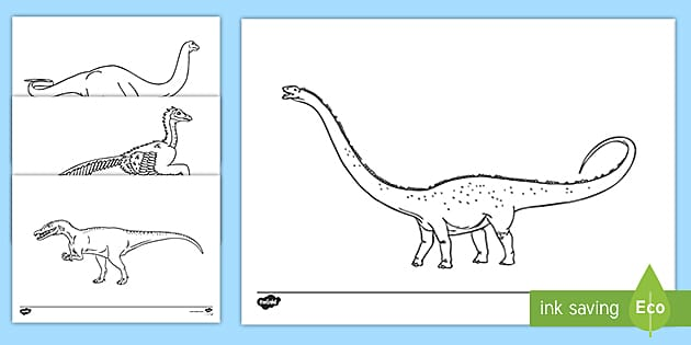 Dinosaur Coloring Pages Teacher Made
