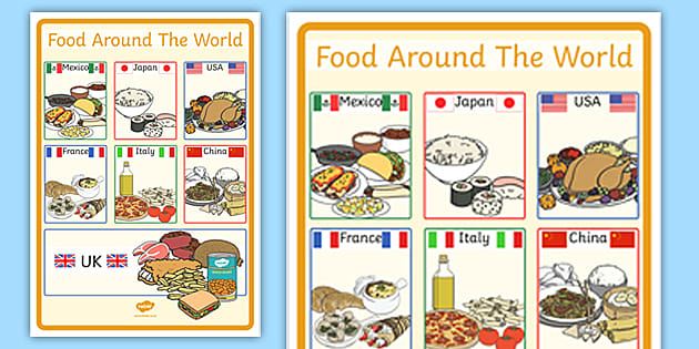 Large Foods Around the World Poster (teacher made)