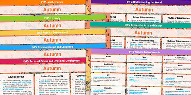 Eyfs Autumn Planning Lesson Plans And Enhancement Ideas