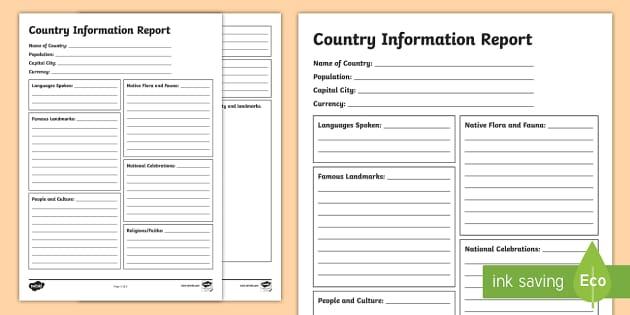 information templates