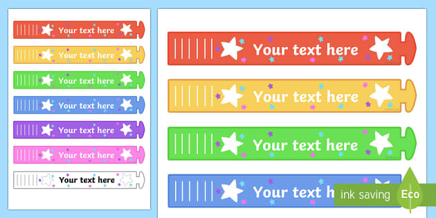 picture relating to Printable Wristband called Absolutely free! - Wristband Awards (Editable) - editable, wristband