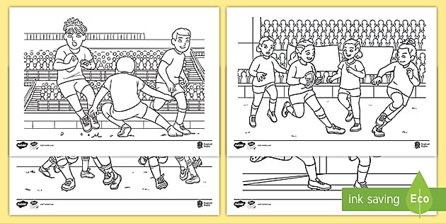 Free Rugby World Cup Colouring Sheets Teacher Made